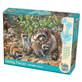 Cobble Hill Raccoon Family 350 Piece Family Puzzle