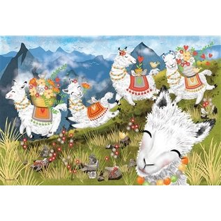 Cobble Hill Leaping Llamas 36 Piece Floor Puzzle