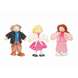 le toy 3-Pack Bendy Wooden Characters by Budkins