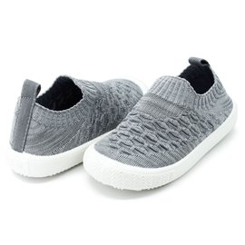 Jan & Jul by Twinklebelle Heather Grey Xplorer Knit Shoe by Jan & Jul