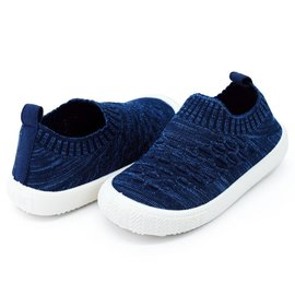 Jan & Jul by Twinklebelle Heather Navy Xplorer Knit Shoe by Jan & Jul