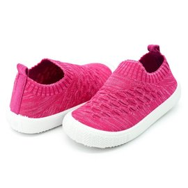 Jan & Jul by Twinklebelle Heather Hot Pink Xplorer Knit Shoe by Jan & Jul