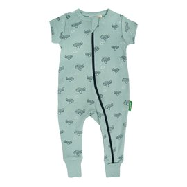 Parade Airplanes Print 2-Way Zip Organic Cotton Romper by Parade