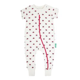 Parade Watermelon Print 2-Way Zip Organic Cotton Romper by Parade