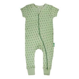 Parade Jade Trees Print 2-Way Zip Organic Cotton Romper by Parade