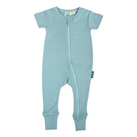 Parade Sky Blue 2-Way Zip Organic Cotton Romper by Parade