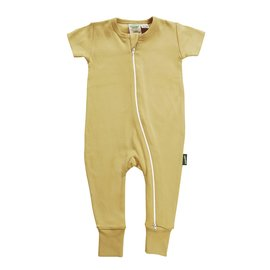 Parade Mustard 2-Way Zip Organic Cotton Romper by Parade