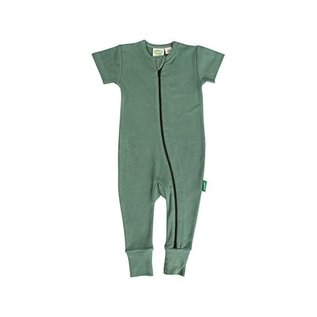 Parade Short Sleeve Solid Colour Zip Rompers by Parade Organics