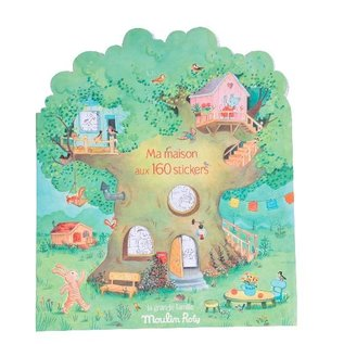 Moulin Roty House Sticker & Colouring Book (Grand Famille) by Moulin Roty