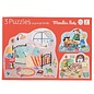 Moulin Roty 12 Piece Puzzles - Set of 3 - by Moulin Roty