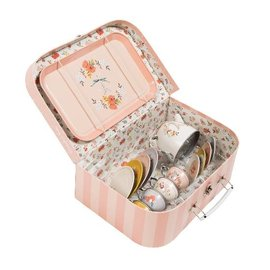 Moulin Roty Les Parisiennes Beautiful Tin Tea Set with Case by Moulin Roty