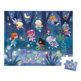 Janod Fairies & Waterlilies 36 Piece Puzzle by Janod