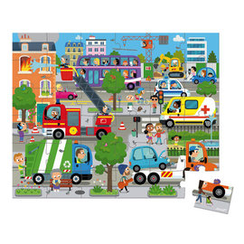 Janod City 36 Piece Puzzle by Janod