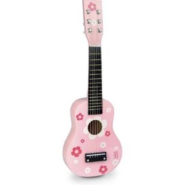 Vilac Wooden Guitar with Pink Floral Design