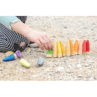 Grapat Wood Coloured Stick Gnomes (18 Piece) by Grapat