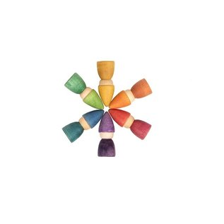 Grapat Wood Rainbow Totems (6 Pieces) by Grapat