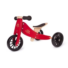 Kinderfeets Cherry Red Tiny Tot Balance Bike by Kinderfeets
