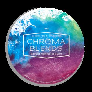 "Ooly Chroma Blends Circular Watercolour Pad 10"" Diameter"