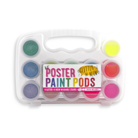 Ooly Lil' Paint Pods Poster Paint - Neon & Glitter - Set of 12