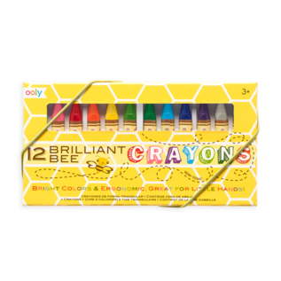 Ooly Brilliant Bee Crayons - Set of 12 by Ooly