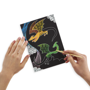Ooly Fantastical Dragons Scratch & Scribble by Ooly