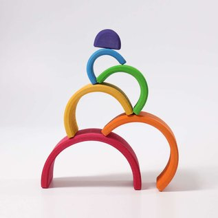 Grimms Wooden Stacking Rainbow - Medium 6 Piece by Grimms