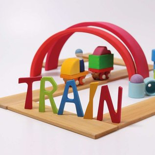 Grimms Wooden Train Building Set 17 Piece by Grimms