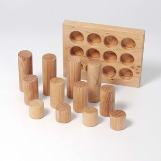 Grimms Wooden Sorting Board with Rollers, Natural 12 Pieces by Grimms
