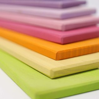 Grimms Pastel Wooden Building Boards by Grimms