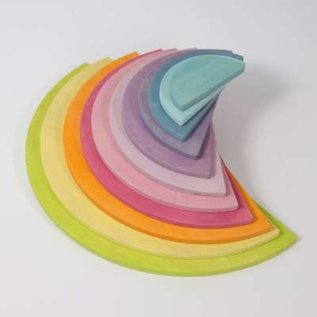 Grimms Large Semicircles, Pastel (11 Pieces) by Grimms