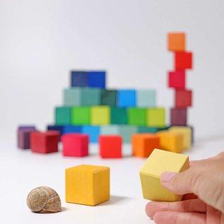 Grimms Wooden Rainbow Squares 4x4cm Building Set (36 Piece) by Grimms