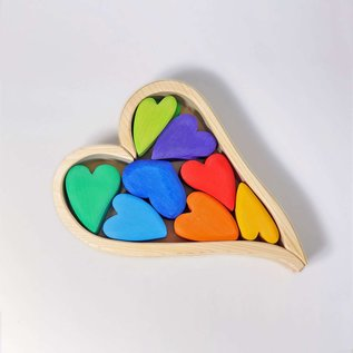 Grimms Rainbow Building Set Hearts by Grimms