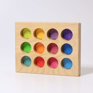 Grimms Wooden Rainbow Sorting Board by Grimms