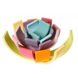 Grimms Pastel Wooden Stacking Tunnel (Large, 12 Piece) by Grimms