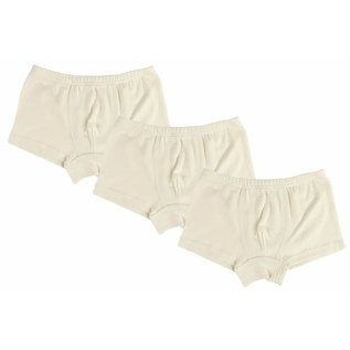 Nest Designs Basic Organic Cotton Boxer Briefs (3-Pack) White