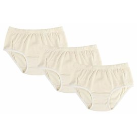 Nest Designs Basic Organic Cotton Girls Underwear (3-Pack) White