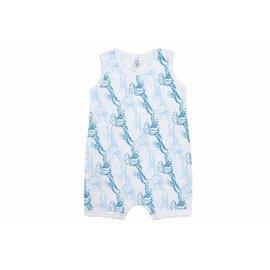 Nest Designs Wave Print Sleeveless Cotton Romper