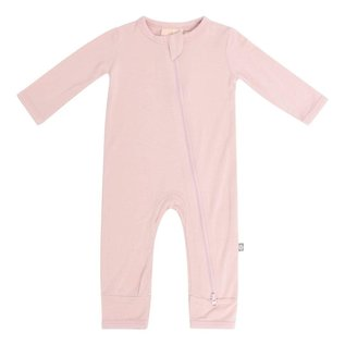 Kyte Baby Blush Colour Zippered Bamboo Romper by Kyte Baby