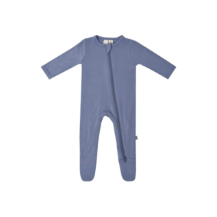 Kyte Baby Slate Colour Zippered Bamboo Footie by Kyte Baby