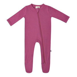 Kyte Baby Sangria Colour Zippered Bamboo Footie by Kyte Baby