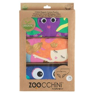 Zoocchini Organic Cotton Girls Underwear 3-Pack by Zoocchini
