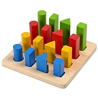 Plan Toys Geometric Peg Board by Plan Toys