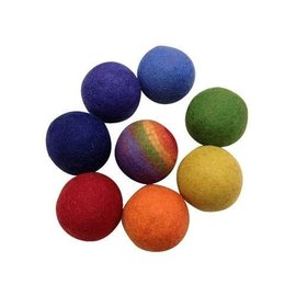 Papoose Wool Felt Rainbow Balls (8 Pieces) by Papoose