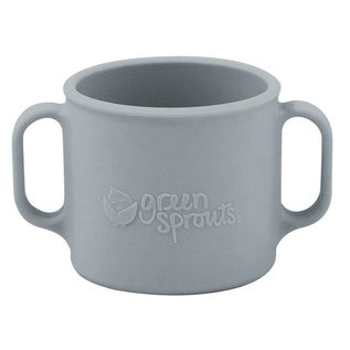 Green Sprouts Grey Silicone Learning Cup