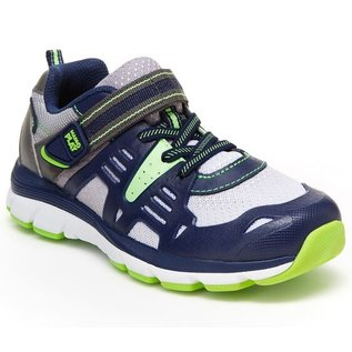 Stride Rite Navy/Lime Made 2 Play Ashton Runner by Stride Rite