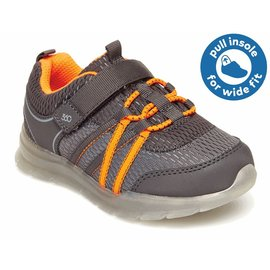 Stride Rite Grey Light Up Rocky Sneaker by Stride Rite (Wide Fit Option)