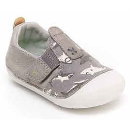 Stride Rite Grey Shark, Atlas Soft Motion New Walker Shoes by Stride Rite