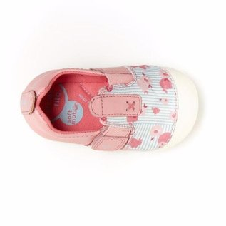 Stride Rite Pink Floral, Atlas Soft Motion New Walker Shoes by Stride Rite