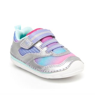Stride Rite Silver Multicolour, Soft Motion Adrian New Walker Shoes by Stride Rite