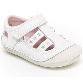 Stride Rite White, Aurora Soft Motion New Walker Shoes by Stride Rite